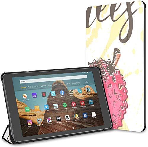 Custodia per tablet Chinese Delicious Lychee Fire HD 10 (9a settima generazione, versione 2019 2017) Kindle10FireTabletCustodia per tablet10polliciCustodia Riattivazione sospensione automatica