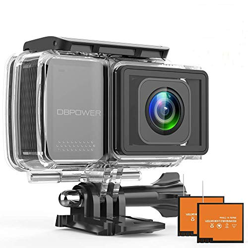 DBPOWER EX7000 PRO 4K Action Camera 2.45' LCD Touchscreen Underwater Camera with 16MP Image Sensor...