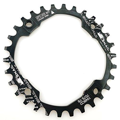 FOMTOR Schmales breites Kettenblatt 30T 104 BCD 9 10 11 Gang Einzel-Kettenblatt für die meisten Mountainbikes Rennräder BMX MTB Fixie Track Fahrrad (rund)