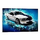 ZHYU Póster de coche deportivo con músculo y fresco reacondicionado, lienzo decorativo para pared, sala de estar, dormitorio, 30 x 45 cm