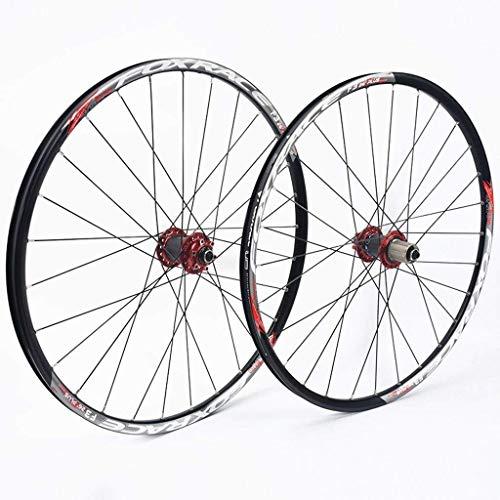 WYN 26 27.5 Pouces Vélo de Montagne WheelSet Double Mur VTT Rim Reminez à la libération Rapide de la Batterie de Charbon de Carbone 7 8 9 10 11 Vitesse (Size : 27.5inch)