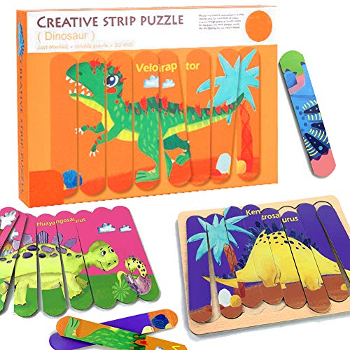 CORPER TOYS 絵合わせパズル 木製パズル ジグソーパズル はめ絵 型はめパズル 恐竜パズル 恐竜シリーズ 色認識 おもちゃ カラフル クリスマス プレゼント 男の子 女の子 八歳以上