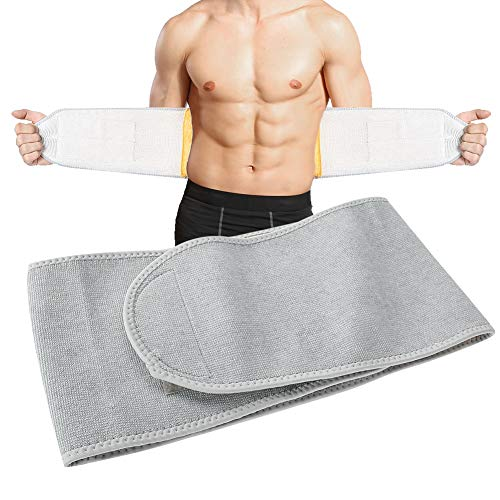 Waist Warmer Belt Abdominal Support Warm Waist Trimmer Brace,Heat Therapy Wrap for Lumbar Spine Pain Relief Lower Back,Belly Warmer Band for Abdominal Menstrual Cramps (M(100 * 20cm / 39.3 * 7.8in))