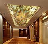 Ytdzsw 5D De 3D Wall Fototapeten Wandpapier Für Decke 3D Wand Deckenmalereien Europäischen Ölgemälde 3D Wandbild Tapete-450X300Cm