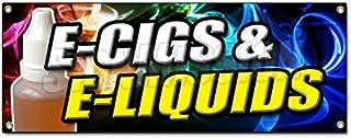 E-CIGS & E-Liquids Banner Sign Smoking Head Shop Cigarette Vape vaporize