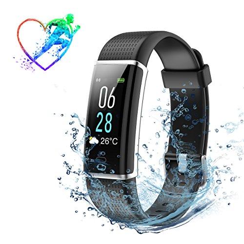 Montre Connectée, Bracelet Connecté, Fitness Tracker Activité Charge Directe USB, Contrôle...