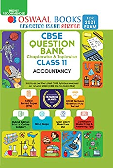 Oswaal CBSE Question Bank Chapterwise & Topicwise Class 11, Accountancy (For 2021 Exam) by [Oswaal Editorial Board]