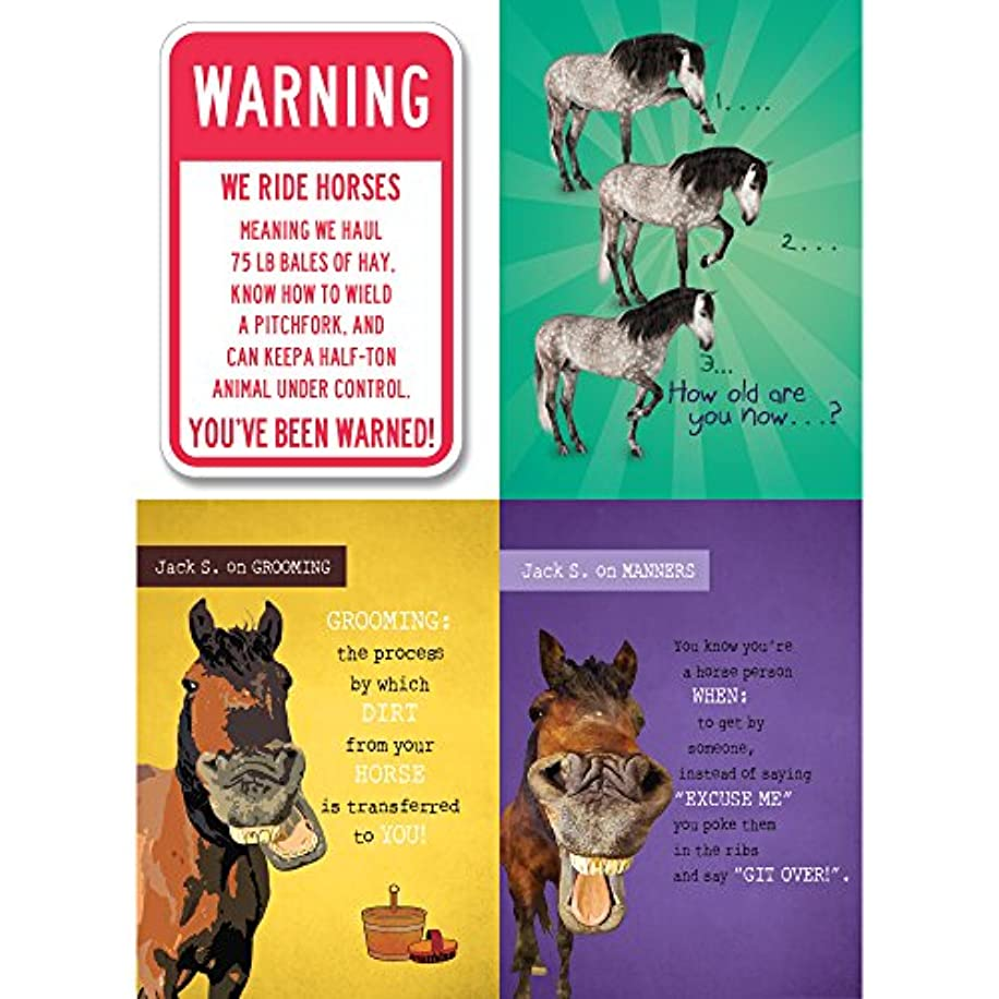 Tree-Free Greetings Horse Advise Birthday Card Assortment, 5 x 7 Inches, 8 Cards and Envelopes per Set (GA31612)