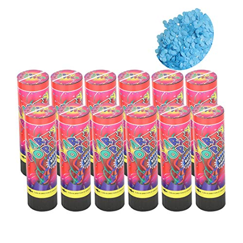 blue party poppers confetti - 2