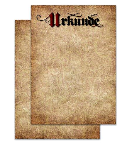 codiarts. vintage Urkunde blanko DIN A4 Pergament Design 20 Stück für Laser- und Tinten-Drucker stabiles 190g/m² Papier professionelle Urkunden Zertifikate Auszeichnungen