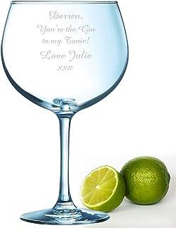 Mensaje personalizado grande 72 cl Juniper Gin cristal regalo grabado láser Tonic