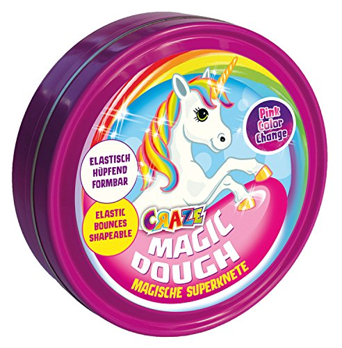 Craze Superknete für Kinder Magic Dough Intelligente Knete Einhorn 80g in Dose BPA-und glutenfrei...