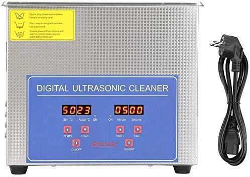 Edelstahl Ultraschallreiniger Ultraschallreinigungsgerät mit Heizung Digitale Timer Ultraschallreiniger Reinigungsgerät mit Digitalanzeige für die Reinigung von Schmuck, Brillen, Edelmetalle(1,3 L)