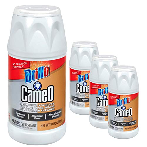 Brillo Cameo   Aluminum, Stainless Steel, Copper, Brass & Porcelain Cleaner   3 pack (10oz)