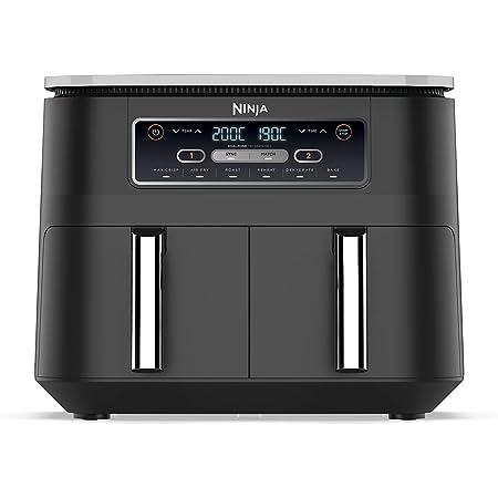 Ninja [AF300EU] Foodi, Friteuse sans Huile Air Fryer Double Compartiment, 7,6 l, Noir