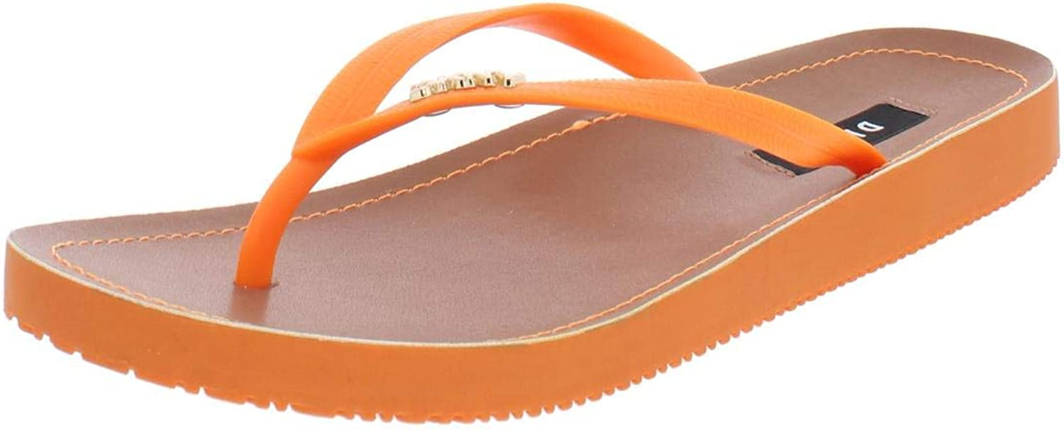 DKNY Womens Madi Rubber Thong Flip-Flops