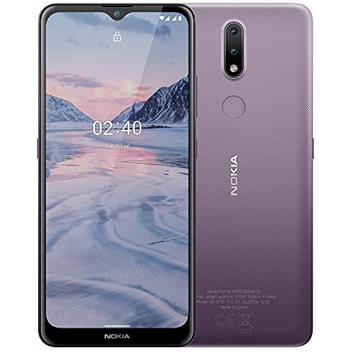 Nokia 2.4 Smartphone mit 6,5 Zoll HD+ Bildschirm, Portät- & Nachtmodus, Akku mit 2 Tage Laufzeit, Fingerabdrucksensor, robustes Design, Android 10 & Google-Assistant-Knopf, Dusk