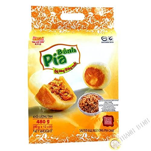 Torta Pia Cha Bong Trung Muoi TAN HUE VIEN 12x40g