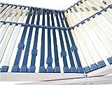 FMP Matratzenmanufaktur Super Stabiler Lattenrost Federlux. Kopf UND FUSSTEIL VERSTELLBAR Querholme 100% BUCHE massiv 10 Härtegradregler, Mittelgurt, EXTREM FLACH, voll montiert 90 x 200 cm - 4