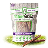 Nature Gnaws Large Bully Sticks 5-6' (10 Pack) - 100% All Natural...