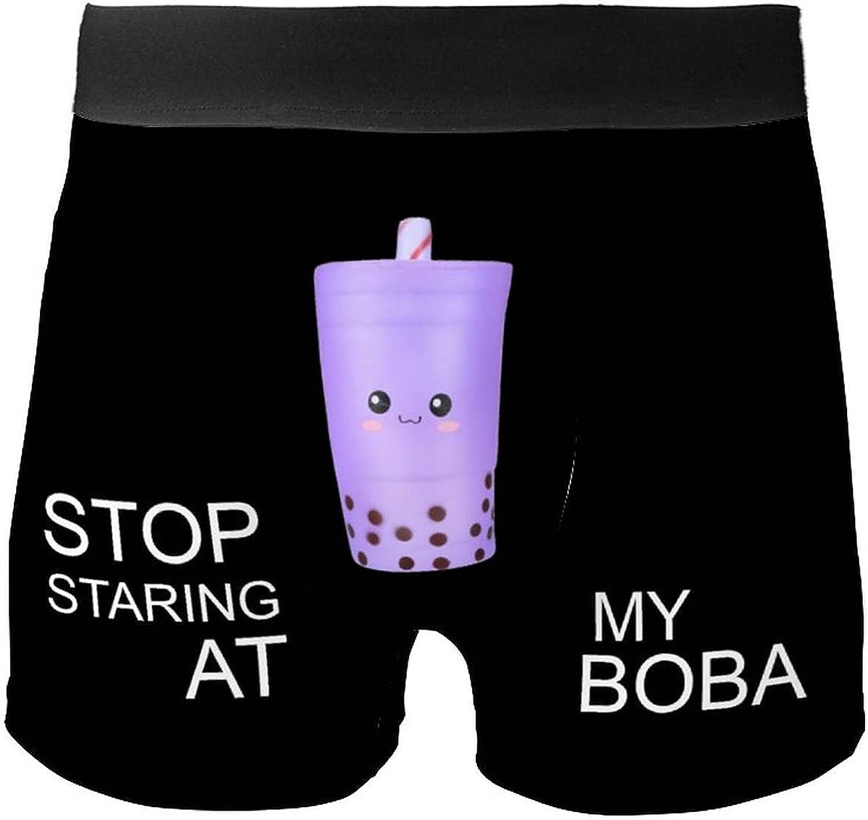 Bubble Tea Babo Squishy Stop Staring at My Boba Boxer Shorts Nerd Underwear