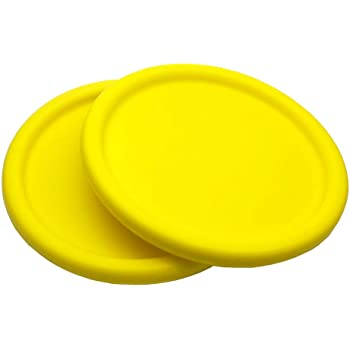 Systreek 2 Pack Foam Frisbee for Kids, Round Edge Soft Frisbee for Kindergarten Teaching, Indoor and Outdoor Flying Frisbee, for Improving Accuracy, Agility, Hand-Eye Coordination Training, Yellow