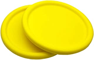Systreek 2 Pack Soft Frisbees for Kids, Round Edge Foam Frisbee, Throwing Flying Frisbee Disc Game, for Improving Accuracy, Reaction, Agility, Hand-eye Coordination Training and DIY Creativity, Yellow
