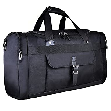 LUXUR 55L Travel Duffel Bag Water Resistant Oversized Hiking Luggage Weekend Bag