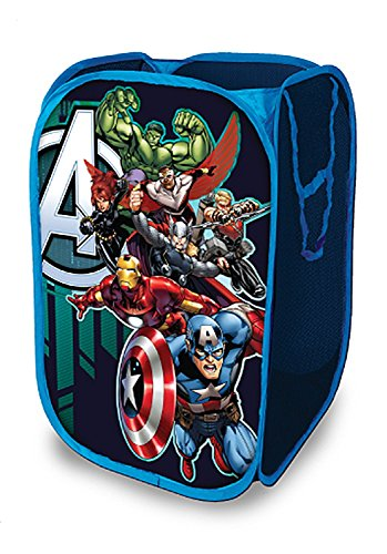 BRANDSALE Strong Mesh Pop-up Laundry Hamper | Quality Laundry Basket | Solid Bottom High Carbon Steel Frame, Easy to Open and Fold Flat for Storage (Avengers)