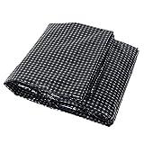 Lona Multi Propósito Poli Blanco y Negro Grid - Impermeable Reforzado con Tela Impermeable con Ojales para La Tienda del Pabellón/Barco/RV O Piscina (160g / M²) (Size : 10x12m)