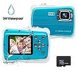 Kids Camera, 21MP HD 3M Waterproof Digital Camera for Kids, 2.0 Inch LCD...