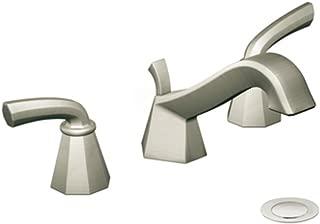 Moen TS447BN Felicity Two-Handle Low Arc Bathroom Faucet, Brushed Nickel