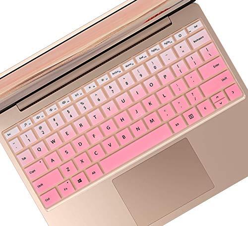 MICROSOFT SURFACE LAPTOP GO 용 키보드 커버-12.4 터치 스크린 2020 출시 SURFACE LAPTOP GO12.4 키보드 보호기-점진적 핑크
