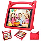 New iPad 9.7 2018/2017 Case,iPad Air 2 Kids Case-Ubearkk Kids Shockproof Light Weight Handle Friendly Stand Kids Case Cover for New Apple Education iPad 9.7 Inch (6th Gen) / 5th Generation(red)