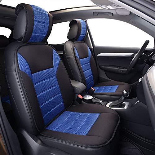 FH 그룹 FB201102 프리미엄 카시트 쿠션(블루)프론트 세트-자동차 용 범용 맞춤 트럭 및 SUV
