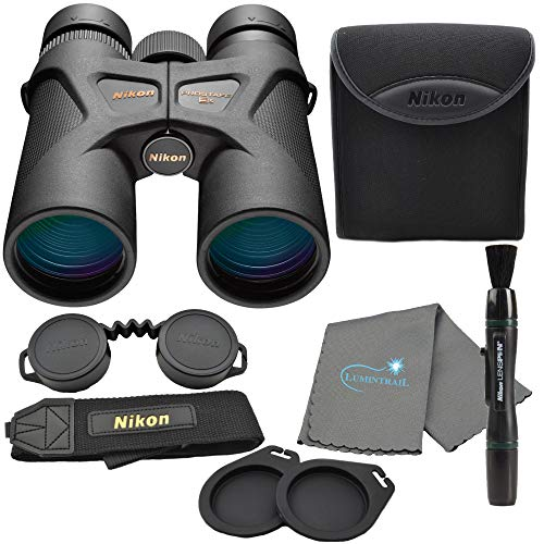 Nikon Prostaff 3S 10x42 Binoculars, Black (16031) Bundle with a Nikon Lens Pen and Lumintrail Cleaning Cloth