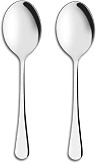 Serving Spoons, 6 Pieces X-Large 9.8 Inches Serving Spoon, AOOSY Stainless Steel Solid Buffet Banquet Flatware Kitchen Basics Serving Spoon Tablespoons Big Ladle