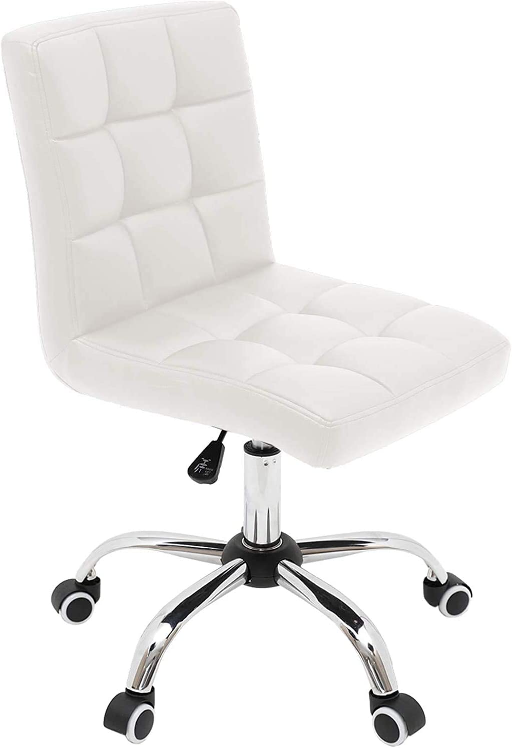 Armless Desk Chair Home Office Mid Ranking TOP16 Back Trust C Leather PU Task