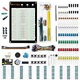 Makeronics 1660 Tie-Points Solderless Breadboard+Electronics Fun Kit |140 PCS U-Shape Jumpers |65 PCS Wires | Power Supply Module|Precision Potentiometer for Prototyping Circuit/Arduino/Raspberry Pi