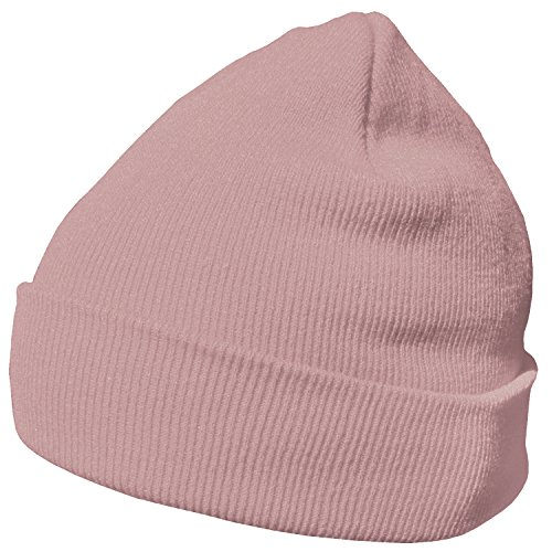 DonDon Bonnet Beanie pour l'hiver avec design classique et moderne vieux, Rose - Taille unique