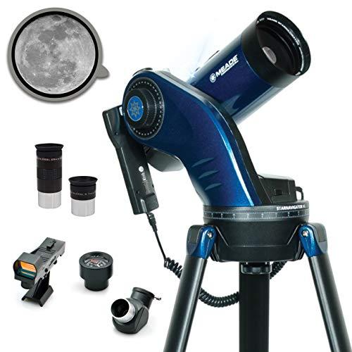 Meade Instruments – StarNavigator NG 90mm Maksutov-Cassegrain (MAK) Computerized GoTo Astronomy Telescope w/AudioStar 30,000+ Object-Database & Audio Tours – Mount & Tripod Included – Outdoors Gift