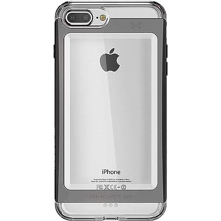 Ghostek Cloak Clear iPhone 7 Plus, iPhone 8 Plus Case with Slim Metal Bumper Design Shockproof Heavy Duty Protection Wireless Charging 2017 iPhone 8 Plus, 2016 iPhone 7 Plus (5.5 Inch) - (Black)