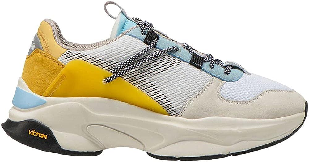 Diadora terrena scarpe sneakers da uomo in nylon e pelle 501.176553