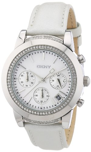 DKNY Damen-Armbanduhr Chronograph Quarz Leder NY8585