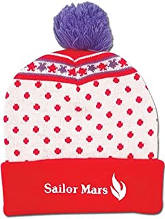 3db787e26fd Beanie Cap - Sailor Moon - New Sailor Mars Pom Anime Hat ge32400