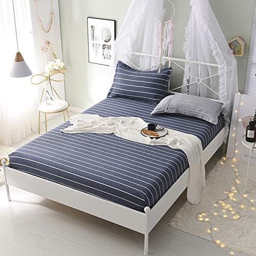 HPPSLT Protector de colchón/Cubre colchón Acolchado, Ajustable y antiácaros. Algodón Antideslizante de una Sola Pieza para sábana-23_1.0 * 2m