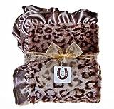 Max Daniel Designs   Grey Jaguar Baby Blanket
