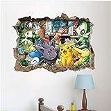 BKLKBL % Cartoon Pikachu Pokemon Gehen Wandaufkleber Für