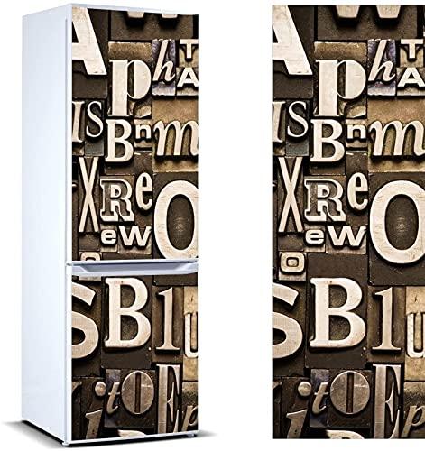 Pegatinas Vinilo para Frigorífico composición Letras | Varias Medidas 200x60cm | Adhesivo Resistente y de Fácil Aplicación | Pegatina Adhesiva Decorativa de Diseño Elegante