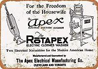 アペックス掃除機と洗濯機金属レトロ壁の装飾ティンサインバー、カフェ、家の装飾